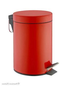 0.8G/3L Kitchen/Bathroom Red Power Coated Steel Trash Can St