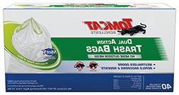 Tomcat 492240 Dual ActionTrashBag, 40 Count, 13 Gallon,