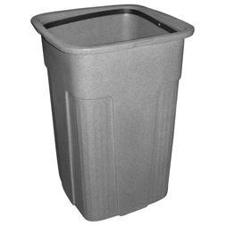 Toter 0SSC50-R1GST Slimline Square Trash Can, 50-Gallon, Gra