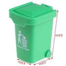 1/12 Miniature Education Dollhouse Garbage Trash Can Decor G