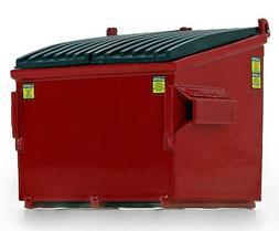1 34 red waste bin dumpster garbage