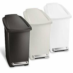 10 Liter/2.6 Gallon Compact Slim Bathroom Office Step Plasti