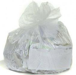 100 ct 4 Gallon Clear Trash Bag Garbage Can Liners Small Bag