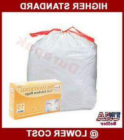 105~ 13 Gallon Drawstring White Tall Kitchen Trash Can Liner