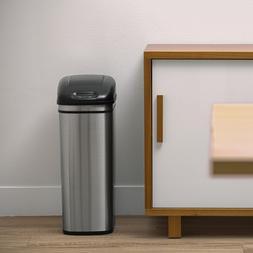 11 Gall Trash Can Motion Sensor Storage Slim Touch-less Kitc