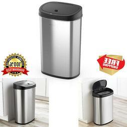13.2 Gal Motion Sensor Trash Can Stainless Steel Kitchen Gar