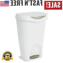 13 Gal Kitchen Trash Can Durable Garbage Bin With Stainless