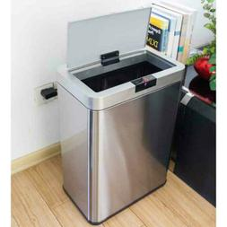 13 Gallon Automatic Trash Can Sensor Touchless Stainless Ste
