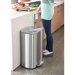 13 Gallon Stainless Steel Touchless Step Trash Can Garbage B