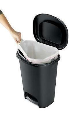 13 Gallon Trash Bin Wastebasket Kitchen Trash Can Garbage Co