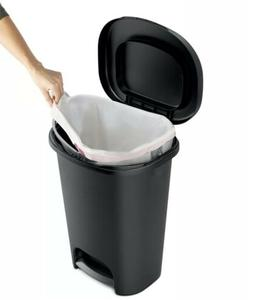 13 Gallon Trash Bin with Lid Wastebasket Kitchen Trash Can G