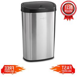 13 Gallon Trash Can Motion Sensor Stainless Steel Kitchen Ga