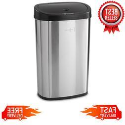 13 Gallon Trash Can Motion Sensor Stainless Steel Kitchen Ga