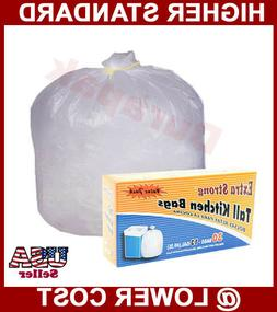 168~ 13 Gallon White Tall Kitchen Trash Can Liner Bags House