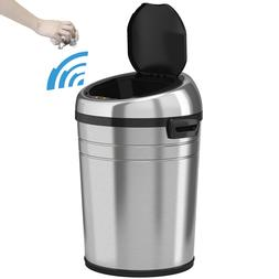 iTouchless 18 Gallon Commercial Size Touchless Trash Can NX,