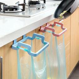 1x  Door Back Garbage Trash Bag Holder Home Cabinet Hanging