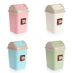 10L Household Garbage Basket Waste Bin Home Office Trash Can