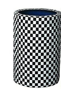 2 Black & White Checker Kwik-Covers 55 Gallon Custom Fit Gar