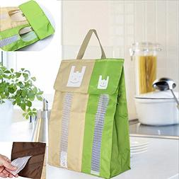 2 Compartment Plastic Bag Holder, Wall Mount Grocery Bag Dis