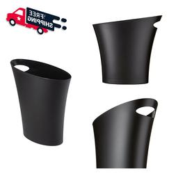 2 Gal Trash Can Garbage Waste Plastic Small Black Home Kitch