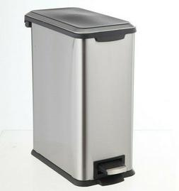 Style Selections 2 Gallon Stainless Steel Trash Can Waste Ba