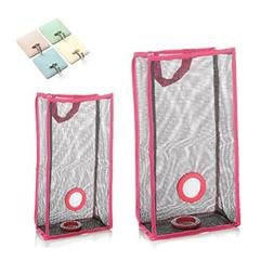 2 Size Grocery Bags Holder Mesh Dispenser Bag Organizer with