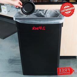 23 Gallon Heavy-Duty Black Slim Restaurant Kitchen Garbage