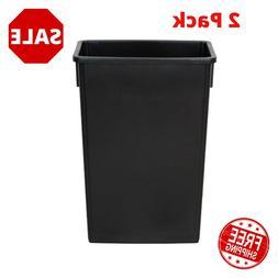 2 Pack 23 Gallon Heavy Duty Black Slim Restaurant Kitchen Ga