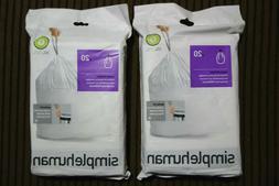 2 Packs Simplehuman Trash Can Bags Fit G 30L Garbage 8 gal 4