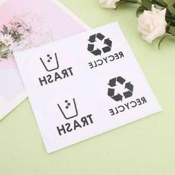 2 Sheets Recycle Trash Symbol Vinyl Decals Sticker For Cans