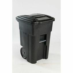 Toter 2-Wheel Trash Cart with Lid - Blackstone, 48-Gallon, M
