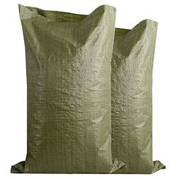 50 Pack with Ties – Sand Bags,Empty White Heavy Duty Woven