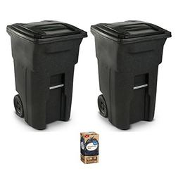 Toter 25564-R1209 Residential Heavy Duty Two Wheeled Trash C