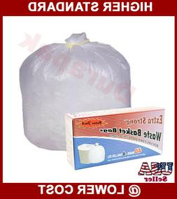210~ 8 Gallon White Waste Basket Bags Trash Can Liner Garbag