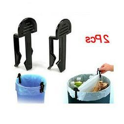 2Pcs Garbage Can Waste Bin Trash Can Bag Clip Holder T1
