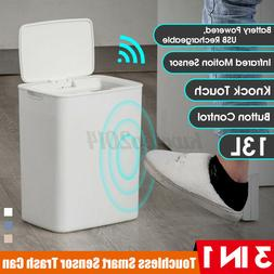 3 IN 1 13L Rechargeable Automatic Touchless Sensor Trash Can