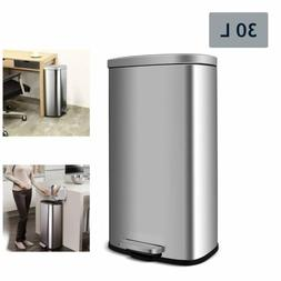30 l trash can brushed stainless steel