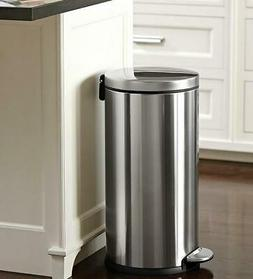 30 Liter kitchen / Office / Home Garbage Bin Stainless Steel