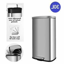 30L Trash Can Classified Recycle Garbage Pedal Dustbin for B