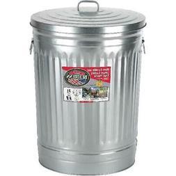 31 Gal. Galvanized Steel Round Trash Can Lid Garbage Disposa
