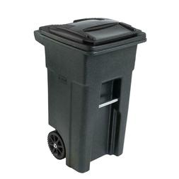 Toter 32 Gal. Greenstone Trash Can with Wheels and Attached