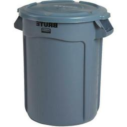 32 Gallon Grey Brute Garbage Can, with Lid