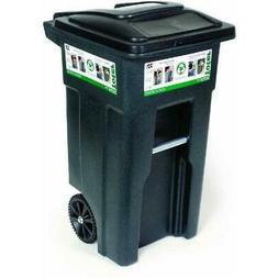 Toter 32 Gallon Heavy Duty Garbage Trash Recycle Bin Cans Wi