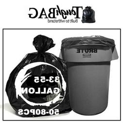 33-55 Gallon Trash Can Bags Rubbish Garbage Thick Bags 1.5Mi