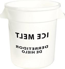 Carlisle 341020IMB02 Round Ice Melt Container, 20 gal, White