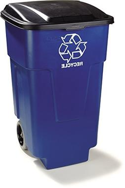 Carlisle 345050REC14 Square Recycle Rolling Container with H