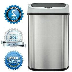 35L Trash Can Garbage Touchless Sensor Automatic Stainless T