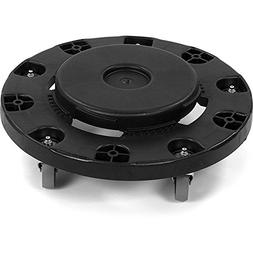 Carlisle 3691003 Flo-Pac Black Round Container Dolly