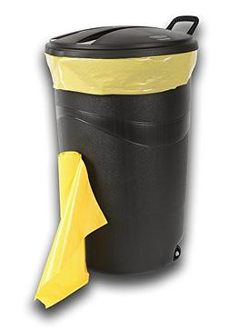 39 GALLON YELLOW HEAVY- DUTY CAN LINERS
