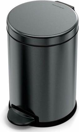 simplehuman 4.5 Liter / 1.2 Gallon Compact Stainless Steel B